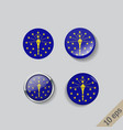set round buttons with image indiana vector image vector image