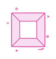 shapes icon design vector image vector image