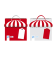 shopping bag design on white background vector image vector image