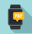 smartwatch nfc payment icon flat style vector image vector image