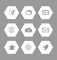 social media and network icons set vector image vector image