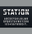 station futuristic display typeface design vector image