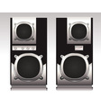 stereo speakers vector image vector image