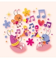 sweet beetle music vector image vector image