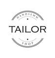 tailor vintage sign logo vector image