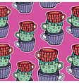 teacup pattern vector image vector image