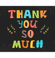 Thank you so much postcard Cute greeting card vector image vector image