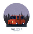 truck pixelated isolated vector image