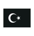 turkey flag monochrome on white background vector image