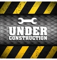 Under construction tools design vector image vector image