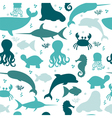 Underwater seamless pattern with silhouettes vector image vector image