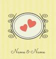 wedding cards3 vector image vector image