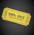 Yellow vintage sale coupon vector image vector image