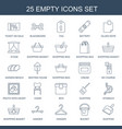 25 empty icons vector image vector image
