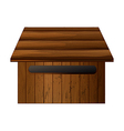 A mailbox made of wood vector image vector image