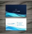 abstract blue business card template vector image vector image