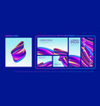 abstract shape with design pack vector image vector image