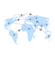 air travels around the world vector image vector image
