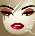 Attractive woman with stylish bright make-up and vector image vector image