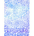 background with blue watercolor succulents on a vector image vector image