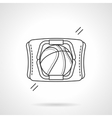 Basketball accessory flat line icon vector image