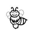 bee cartoon mascot vector image