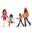 black Family of father mother sister and son ice vector image