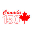 canada 150 birthday graphic vector image vector image