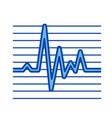 cardiogram line icon vector image