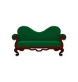 comfortable sofa vintage green couch living room vector image