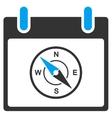 Compass Calendar Day Toolbar Icon vector image vector image