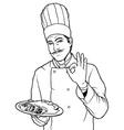 Cook Gesture Delicious Food vector image vector image