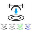 copter arrival flat icon vector image vector image