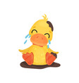 cute little yellow duckling character sitting in a