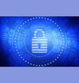 cyber protection concept abstract background vector image