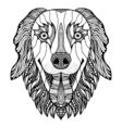 dog head zentangle vector image