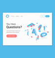 faq frequently asked questions section vector image vector image
