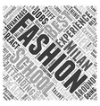 fashion school in Milan Word Cloud Concept vector image vector image