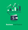 financial analysis business performance report vector image vector image