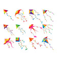 game kite set vector image vector image