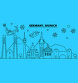 germany munchen winter holidays skyline merry vector image vector image