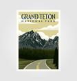 grand teton national park vintage poster design vector image vector image