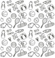 hand drawn fitness seamless pattern vector image