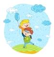 Happy children cartoon characters at park vector image vector image