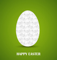 Happy Easter puzzle folded into the egg vector image