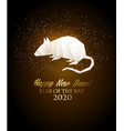 happy new year 2020 background year rat vector image