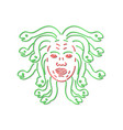 head of medusa neon sign vector image