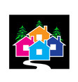 houses village concept icon design vector image vector image