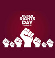 human rights day december 10 holiday concept