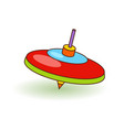 humming-top children toy bright top toy over vector image